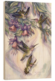 Quadro de madeira  Love is the joy of life - Jody Bergsma