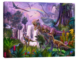 Quadro em tela  Dinos in the jungle - Jan Patrik Krasny