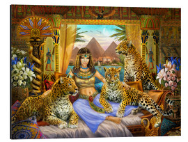 Quadro em alumínio  Egyptian Queen of the Leopards - Jan Patrik Krasny