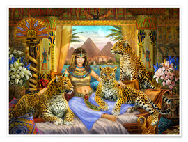 Póster Premium  Egyptian Queen of the Leopards - Jan Patrik Krasny