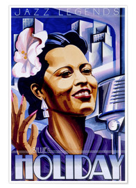 Póster Premium Billie Holiday