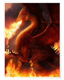 Póster Premium  Lord of the Dragons - Phil Straub