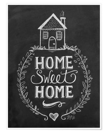 Póster Premium  Home Sweet Home - Lily & Val