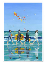 Póster Premium  Abbey Road Beach - Peter Adderley