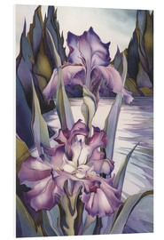 Quadro em PVC  Lady of the lake - Jody Bergsma