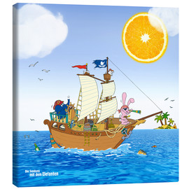 Quadro em tela  Pirate ship in search of treasure