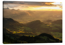 Quadro em tela  View from Hochries Mountain in the Bavarian Alps - Markus Ulrich