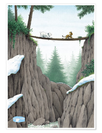 Póster Premium  The Little Polar Bear, the test of courage