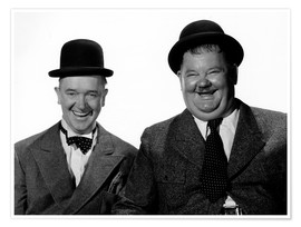 Póster Premium  Laurel and Hardy: Nothing but trouble