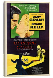 Quadro em tela  TO CATCH A THIEF, Alfred Hitchcock, Cary Grant, Grace Kelly