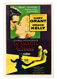 Póster Premium  TO CATCH A THIEF, Alfred Hitchcock, Cary Grant, Grace Kelly