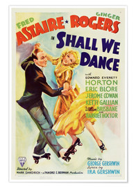 Póster Premium  SHALL WE DANCE, Fred Astaire, Ginger Rogers