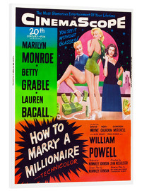 Quadro em PVC  HOW TO MARRY A MILLIONAIRE, Betty Grable, Marilyn Monroe, Lauren Bacall