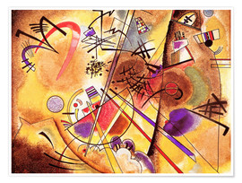 Póster Premium  Small dream in red - Wassily Kandinsky