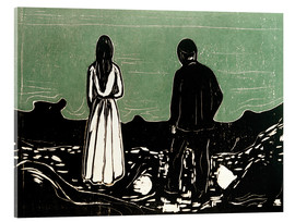 Quadro em acrílico  Two People (The Lonely Ones) - Edvard Munch