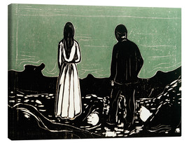 Quadro em tela  Two People (The Lonely Ones) - Edvard Munch
