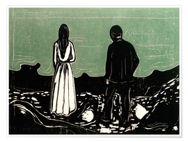 Póster Premium  Two People (The Lonely Ones) - Edvard Munch