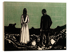 Quadro de madeira  Two People (The Lonely Ones) - Edvard Munch