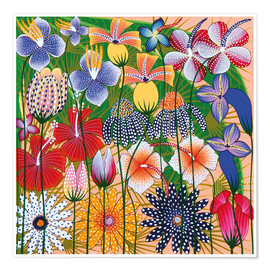 Póster Premium  Flower miracle of the jungle - Wasia