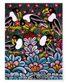 Póster Premium  Toucans in the foliage - Mzuguno