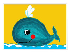 Póster Premium  Frida, the friendly whale - Little Miss Arty