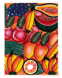 Póster Premium  Exotic Fruits All kinds of - Chilambo