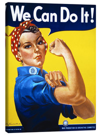 Quadro em tela  We Can Do It! - Advertising Collection