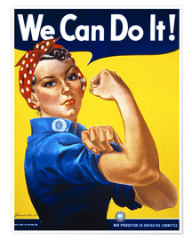 Póster Premium  We Can Do It! - Advertising Collection