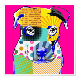 Póster Premium Pop Art Bulldogge