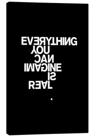 Quadro em tela  Everything you can imagine is real (Pablo Picasso) - THE USUAL DESIGNERS