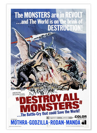 Póster Premium  Destroy All Monsters - Entertainment Collection