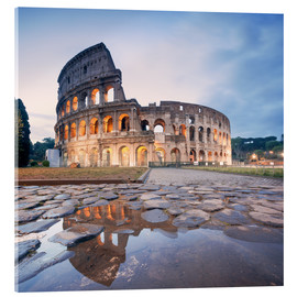 Quadro em acrílico  Colosseum reflected into water - Matteo Colombo