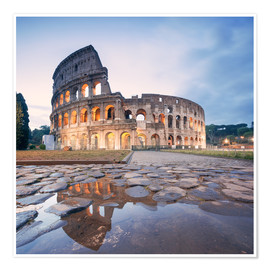 Póster Premium  Colosseum reflected into water - Matteo Colombo