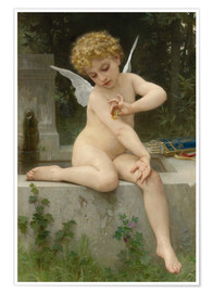 Póster Premium Cupid with butterfly