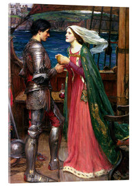 Quadro em acrílico  Tristan and Isolde - John William Waterhouse