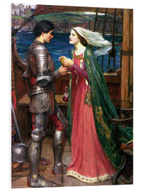 Quadro em PVC  Tristan and Isolde - John William Waterhouse