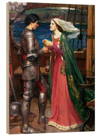 Quadro de madeira  Tristan and Isolde - John William Waterhouse