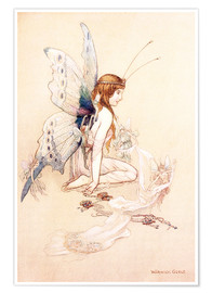 Póster Premium  The fairies brought her a pretty pair of wings - Warwick Goble
