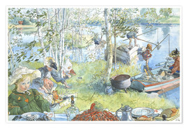 Póster Premium  Opening of the crab fishing season - Carl Larsson
