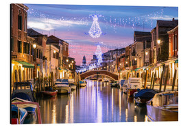 Quadro em alumínio  Canal in Venice at Christmas - Matteo Colombo