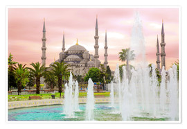 Póster Premium  the blue mosque (magi cami) in Istanbul / Turkey (vintage picture) - gn fotografie