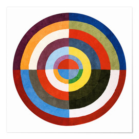 Póster Premium  First Disk - Robert Delaunay