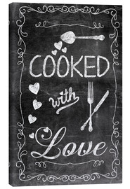 Quadro em tela  Cooked with Love - Andrea Haase