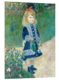 Quadro em PVC  Girl with watering can - Pierre-Auguste Renoir