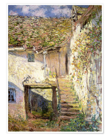 Póster Premium  The staircase - Claude Monet
