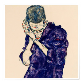 Póster Premium  Youth with violet frock - Egon Schiele