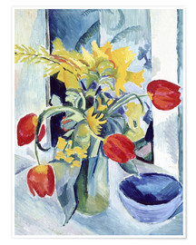 Póster Premium  Still life with tulips - August Macke