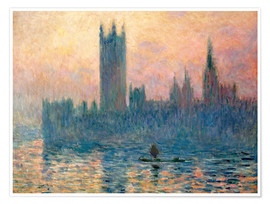 Póster Premium Parliament in London at sunset