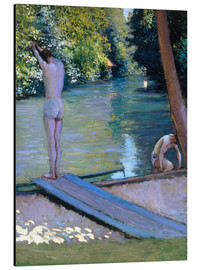 Quadro em alumínio  Bathers on the banks of the Yerres - Gustave Caillebotte