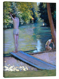Quadro em tela  Bathers on the banks of the Yerres - Gustave Caillebotte